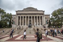 Library of Columbia university, New York City, USA Stock Photos