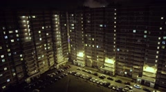 Modern multi-storey residential buildings Stock Footage