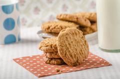 Cookies with peanut butter wholegrain - stock photo