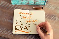 Business acronym EVA ECONOMIC VALUE ADDED Stock Photos