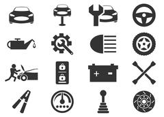 Car service icons set Stock Illustration