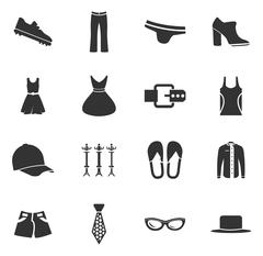 Clothes Icons set Stock Illustration