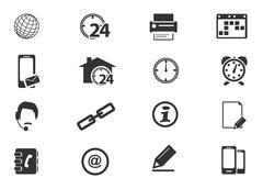 Stock Illustration of Community icons set