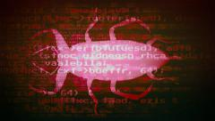 Computer bug ugly code red Stock Footage