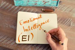 Stock Photo of Business acronym EI EMOTIONAL INTELLIGENCE