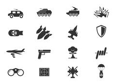 Stock Illustration of Military and war icons