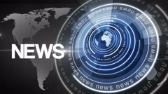 Abstract circle round news background 4K colorless-blue Stock Footage