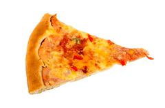 Delicious slice of pizza - stock photo