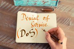 Business acronym DOS DENIAL OF SERVICE - stock photo