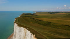 High rising aerial drone footage of Seven Sisters Stock Footage