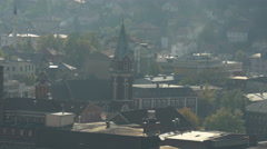 Church of Saint Anthony of Padua and other buildings in Sarajevo Stock Footage