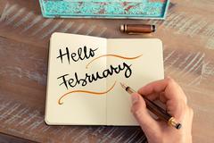 Stock Photo of Written text HELLO FEBRUARY