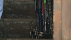 Tools on a street in Sarajevo Stock Footage