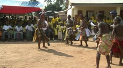 WOMEN AND BOYS DANCING AT SCHOOL CEREMONY 2 Stock Footage
