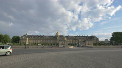 View of Hotel National des Invalides in Paris Stock Footage