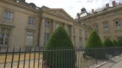 View of Institute Des Hautes Studies Defense National in Paris Stock Footage