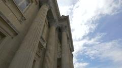 Beautiful facade of Institute Des Hautes Studies Defense National, Paris Stock Footage