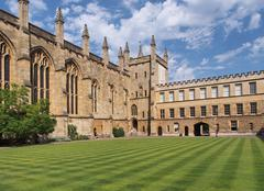 New College, Oxford University - stock photo