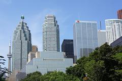 TORONTO - 2015:  Toronto is Canada's financial capital, with the head office - stock photo