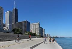 CHICAGO - 2010:  The affluent North Michigan area of Chicago - stock photo