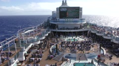 Cruise ship top deck Stock Footage