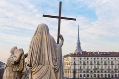 Turin, Italy - January 2016: Religion Statue - stock photo