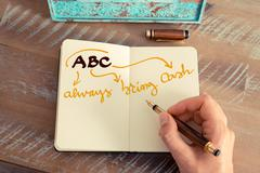 Business Acronym ABC Always Bring Cash Stock Photos