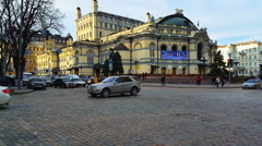 Kyiv, The National opera of Ukraine in Kyiv (Kiev) at sunny day Stock Footage