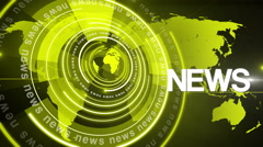 Abstract circle round news background 4K yellow Stock Footage
