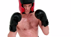 Sportsman is boxing Stock Footage