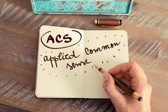 Acronym ACS APPLIED COMMON SENSE Stock Photos