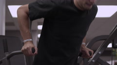 Man doing dips at the gym. Stock Footage