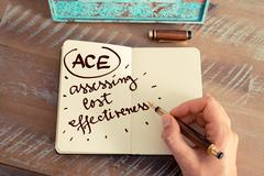 Acronym ACE Assessing Cost Effectiveness - stock photo
