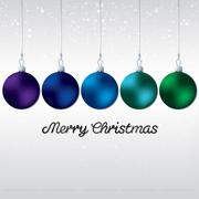 Simple, elegant bauble Christmas card in vector format. - stock illustration