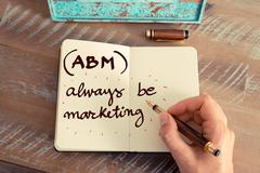 Business Acronym ABM ALWAYS BE MARKETING - stock photo