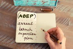 Business Acronym ABEP Annual Branch Expansion Plan Stock Photos
