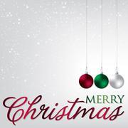 Elegant bauble Christmas card in vector format. Stock Illustration