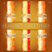 Season's Greetings angel cracker card in vector format. - stock illustration