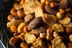 Salty Spanish Cocktail Nuts - stock photo