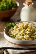 Organic Paleo Cauliflower Rice - stock photo