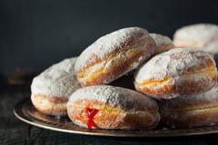 Homemade Sugary Paczki Donut - stock photo