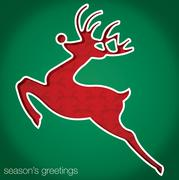 "Reindeer ""Season's Greetings"" cut out card in vector format. - stock illustration"