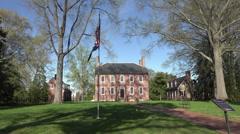 Fredericksburg Virginia Historic Kenmore Plantation flag HD 043 Stock Footage