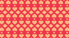 4k Heart Abstract Seamless loop background. Stock Footage