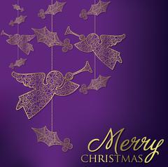 Formal Christmas filigree card in vector format. Stock Illustration