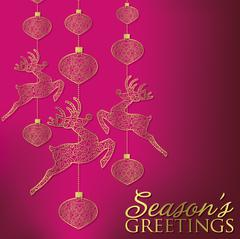 Formal Christmas filigree card in vector format. - stock illustration