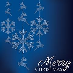 Stock Illustration of Formal Christmas filigree card in vector format.