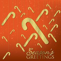 Elegant hanging ornament card in vector format - stock illustration