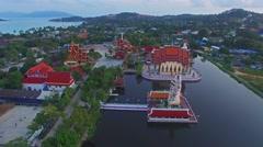 February 2016. Wat Plai Laem in Koh Samui, Thailand Stock Footage