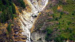 Waterfall French Alps Mountain Chamonix, France 5K HD Stock Video Footage - stock footage